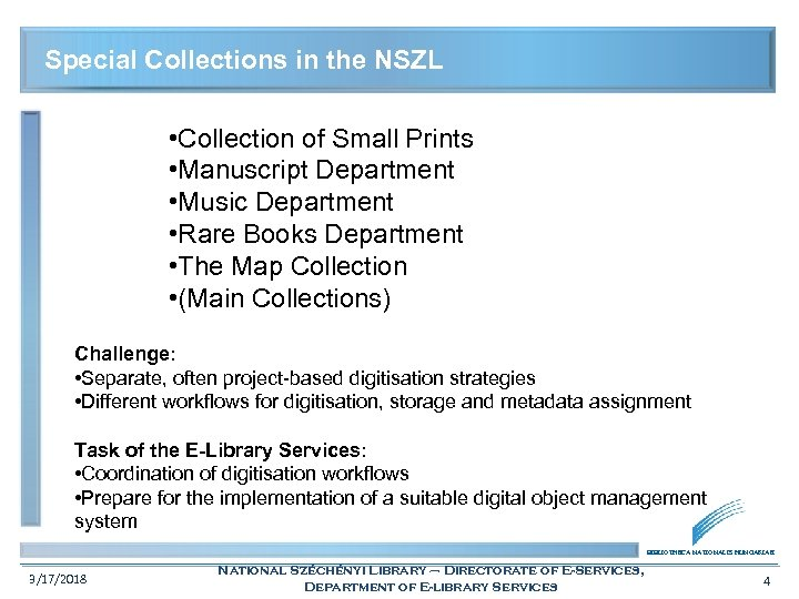 Special Collections in the NSZL • Collection of Small Prints • Manuscript Department •