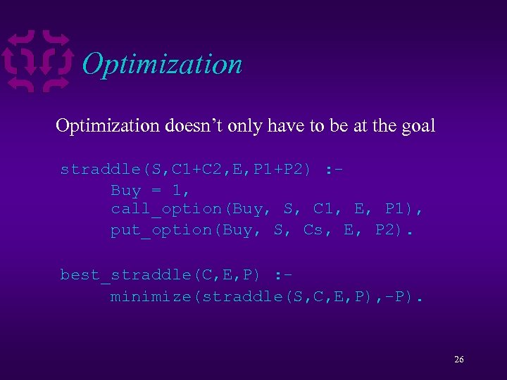 Optimization doesn't only have to be at the goal straddle(S, C 1+C 2, E,