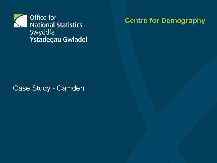 Centre for Demography Case Study - Camden