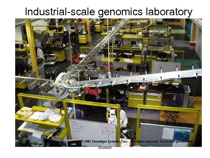 Industrial-scale genomics laboratory Biotech