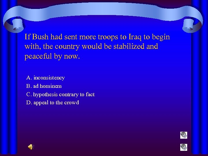 If Bush had sent more troops to Iraq to begin with, the country would