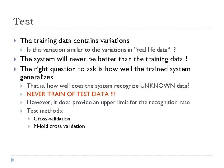 Test The training data contains variations Is this variation similar to the variations in