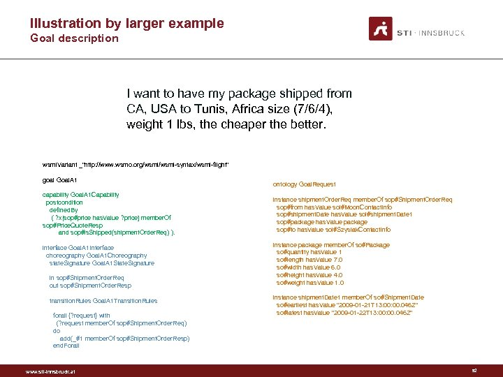 Illustration by larger example Goal description I want to have my package shipped from