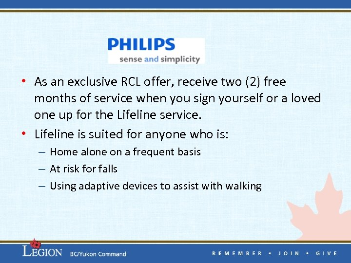 • As an exclusive RCL offer, receive two (2) free months of service