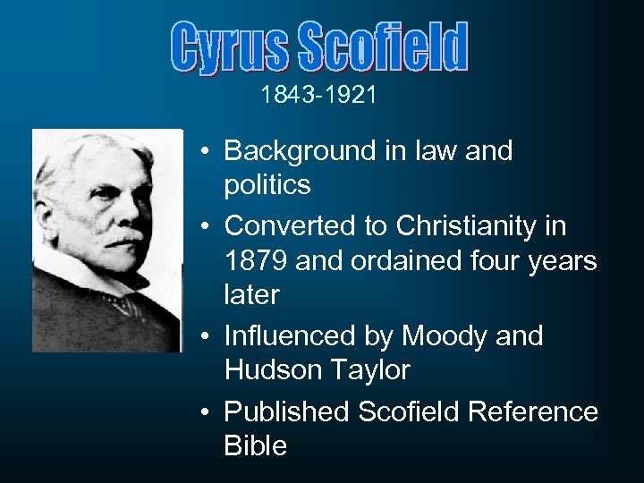 1843 -1921 • Background in law and politics • Converted to Christianity in 1879