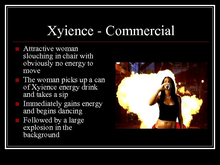 Xyience - Commercial n n Attractive woman slouching in chair with obviously no energy