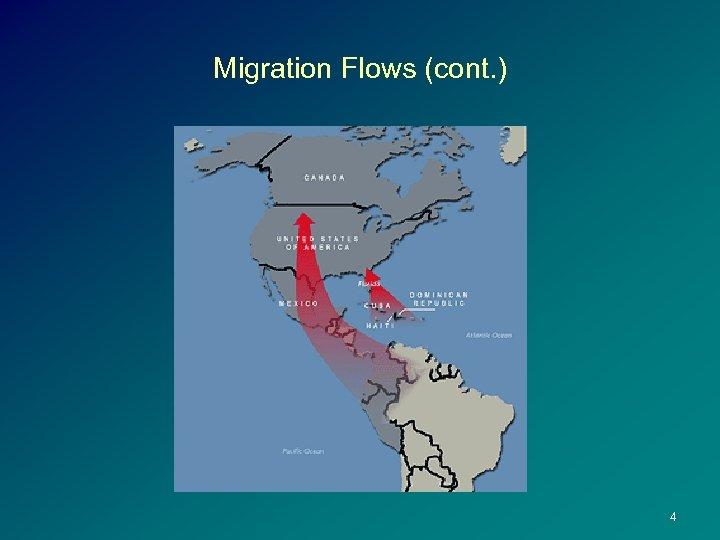 Migration Flows (cont. ) 4