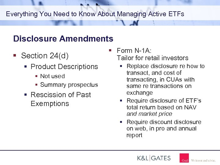 Everything You Need to Know About Managing Active ETFs Disclosure Amendments Section 24(d) Product