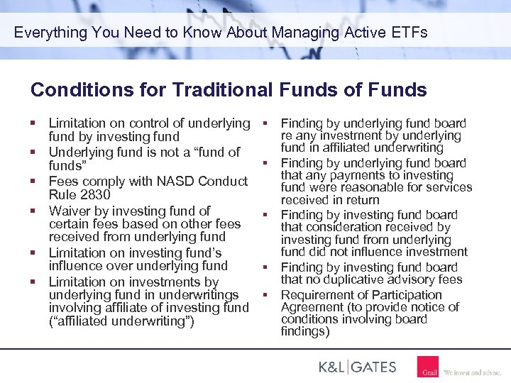 Everything You Need to Know About Managing Active ETFs Conditions for Traditional Funds of