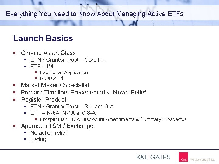 Everything You Need to Know About Managing Active ETFs Launch Basics Choose Asset Class