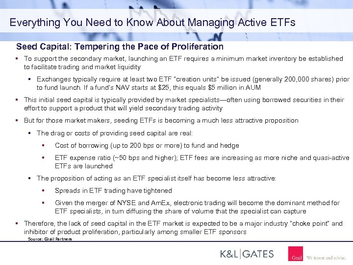 Everything You Need to Know About Managing Active ETFs Seed Capital: Tempering the Pace