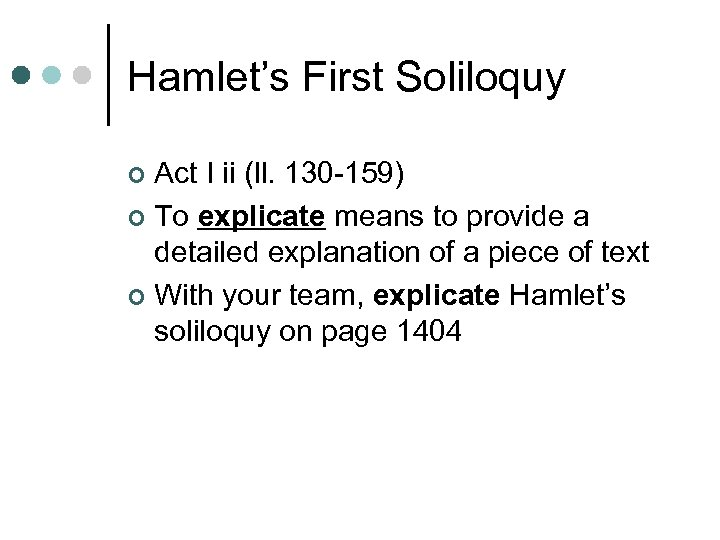 first soliloquy in hamlet analysis