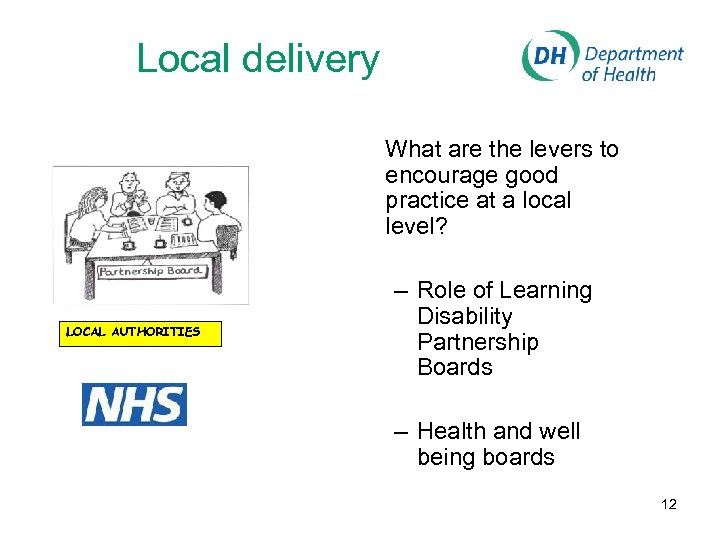 Local delivery What are the levers to encourage good practice at a local level?