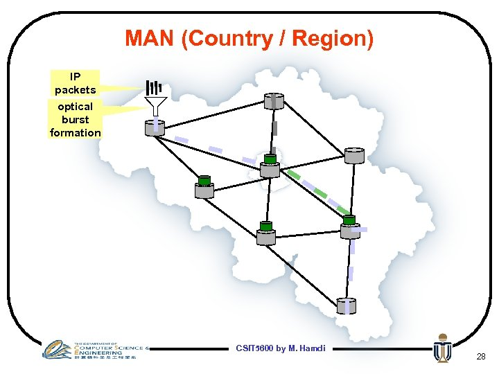 MAN (Country / Region) IP packets optical burst formation CSIT 5600 by M. Hamdi