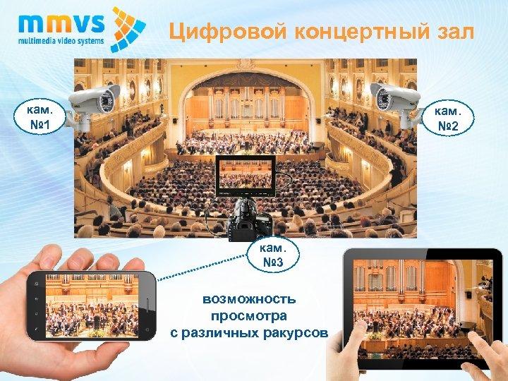Цифровой концертный зал кам. № 1 кам. № 2 кам. № 3 возможность просмотра