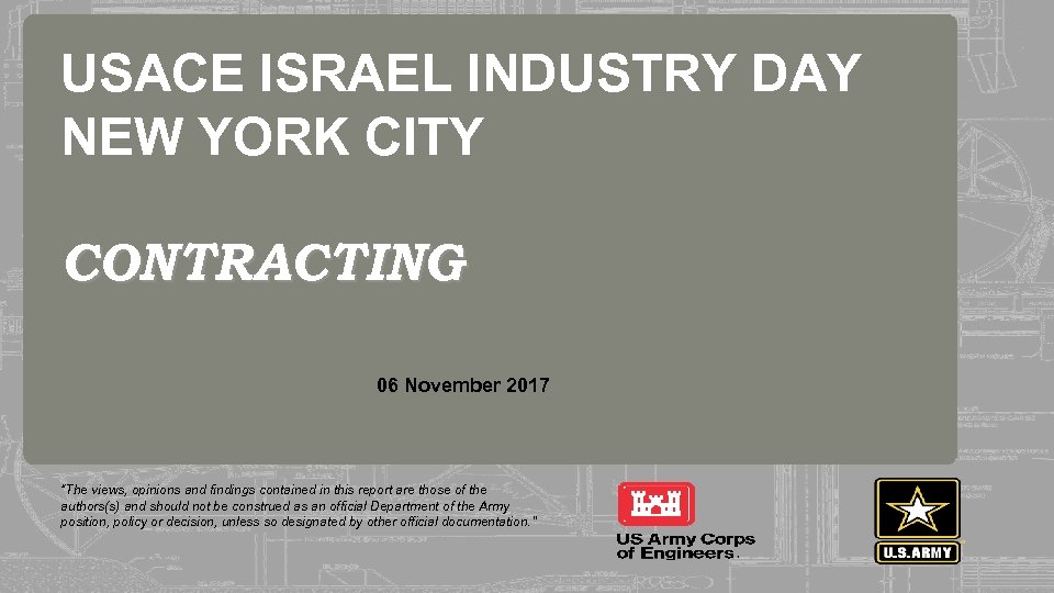 USACE ISRAEL INDUSTRY DAY NEW YORK CITY CONTRACTING 237 237 255 255 217 217