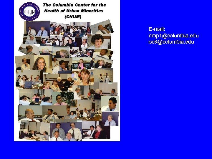 E-mail: nmp 1@columbia. edu oc 6@columbia. edu