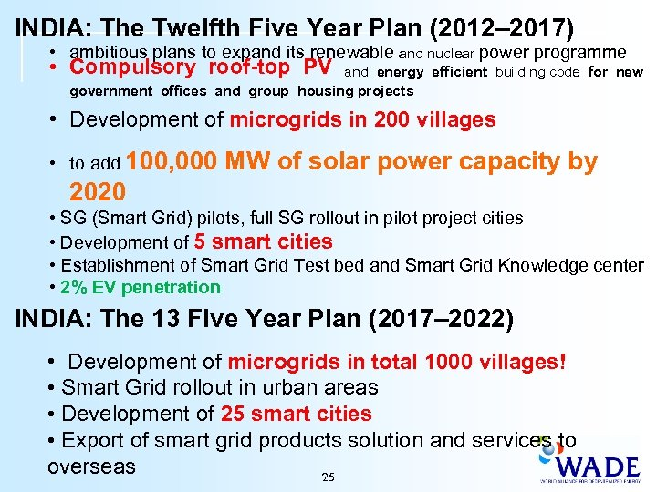 INDIA: The Twelfth Five Year Plan (2012– 2017) • ambitious plans to expand its