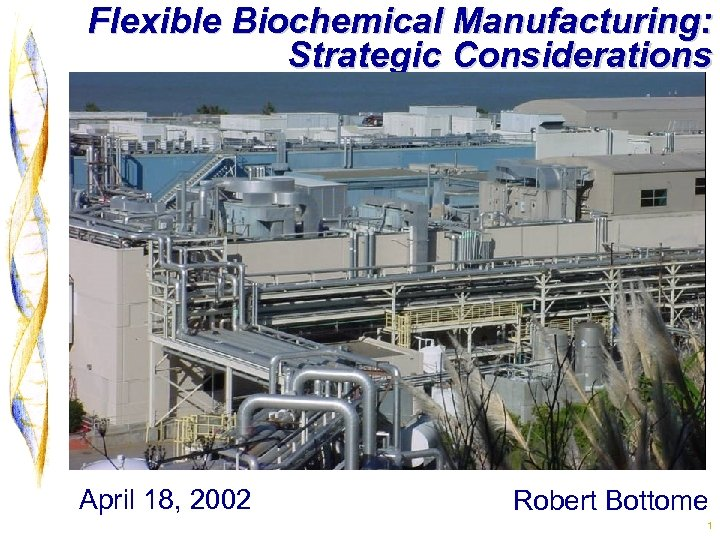 Flexible Biochemical Manufacturing: Strategic Considerations April 18, 2002 Robert Bottome 1