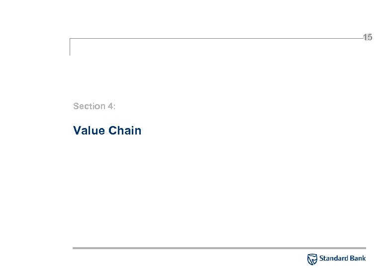 15 Section 4: Value Chain
