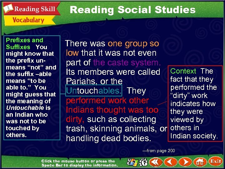 """Reading Social Studies Prefixes and Suffixes You might know that the prefix unmeans """"not"""""""