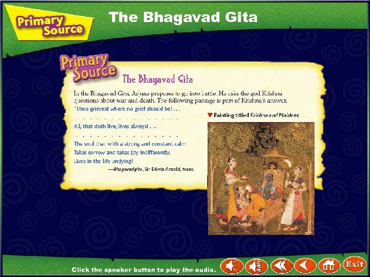 The Bhagavad Gita Click the speaker button to play the audio.