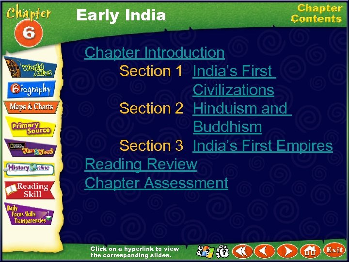 Early India Chapter Introduction Section 1 India's First Civilizations Section 2 Hinduism and Buddhism