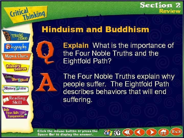 Hinduism and Buddhism Explain What is the importance of the Four Noble Truths and