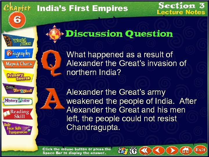 India's First Empires What happened as a result of Alexander the Great's invasion of