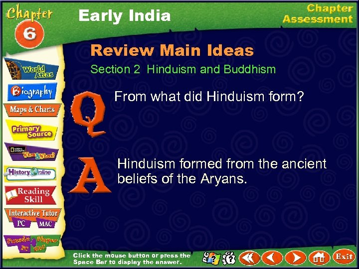 Early India Review Main Ideas Section 2 Hinduism and Buddhism From what did Hinduism