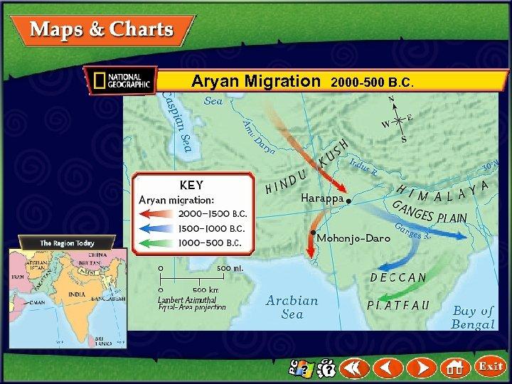 Aryan Migration 2000 -500 B. C.