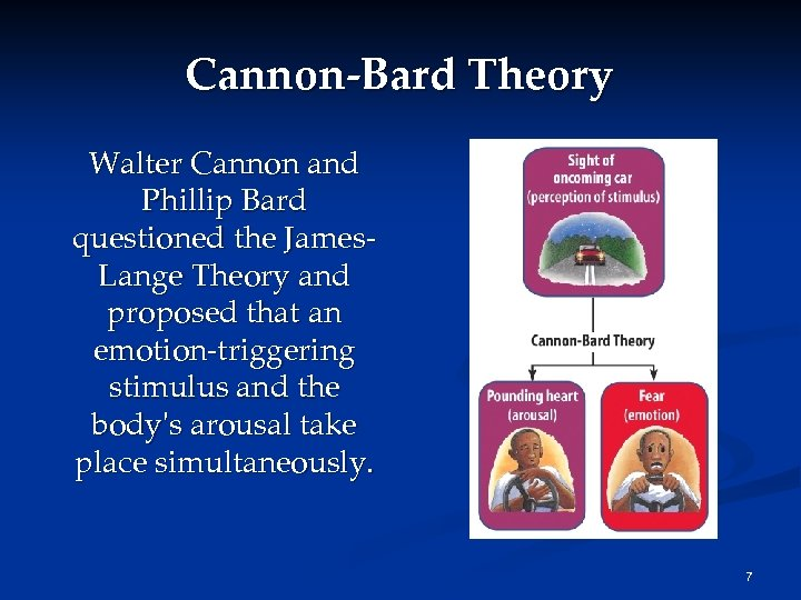 Cannon-Bard Theory Walter Cannon and Phillip Bard questioned the James. Lange Theory and proposed