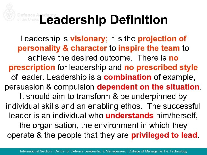 leadership individual ass Leadership transition one: from individual contributor to frontline manager the primary difference between being a leading individual contributor and a frontline manager is the difference between personal productivity and organizational capacity.