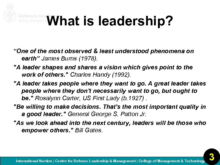 """What is leadership? """"One of the most observed & least understood phenomena on earth"""""""