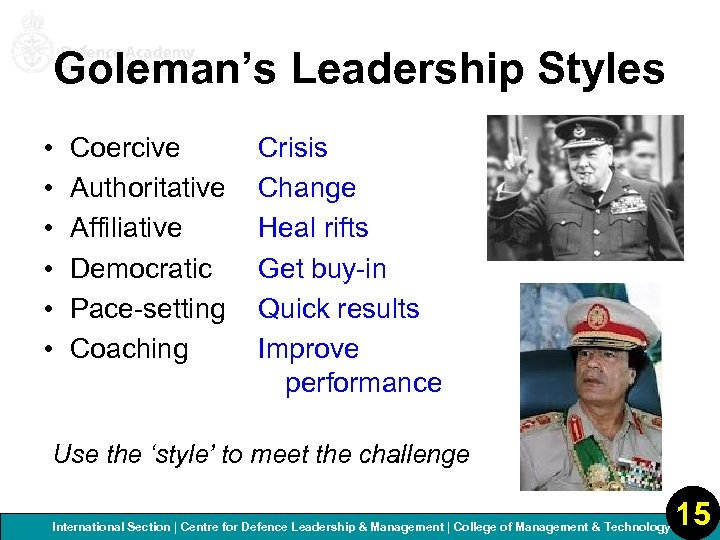 4 -6 Leadership Paradigms SLP E Course International Section