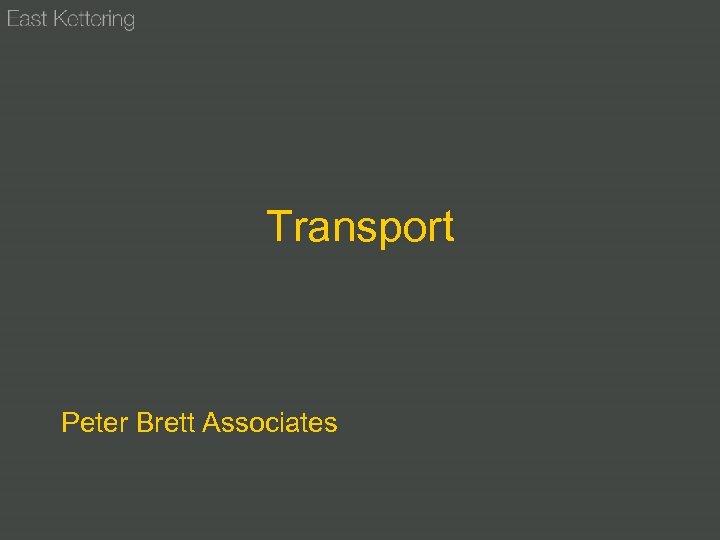 Transport Peter Brett Associates