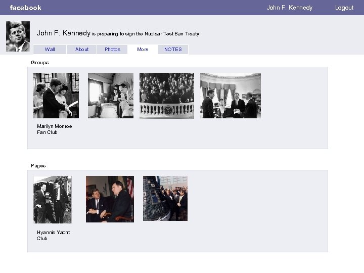facebook Wall Photos Flair Boxes John F. Kennedy is preparing to sign the Nuclear