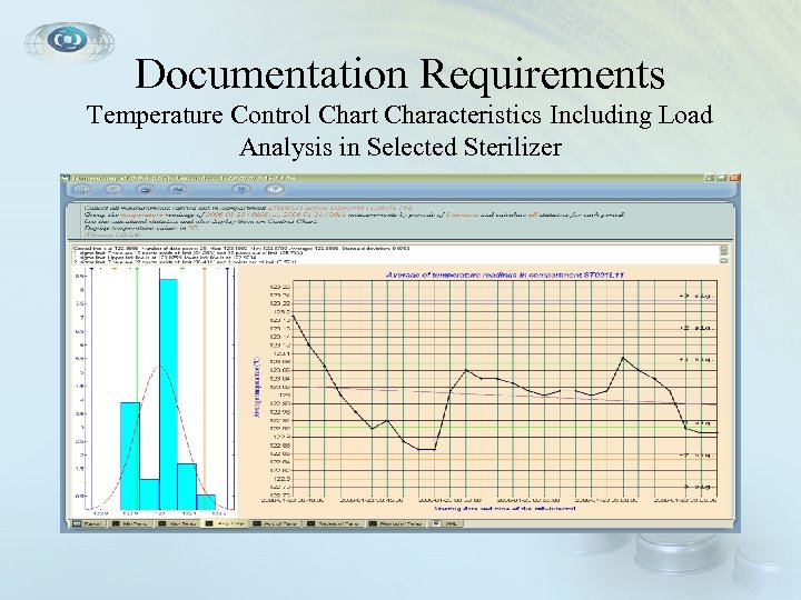 Documentation Requirements Temperature Control Chart Characteristics Including Load Analysis in Selected Sterilizer
