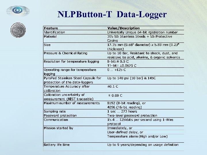 NLPButton-T Data-Logger