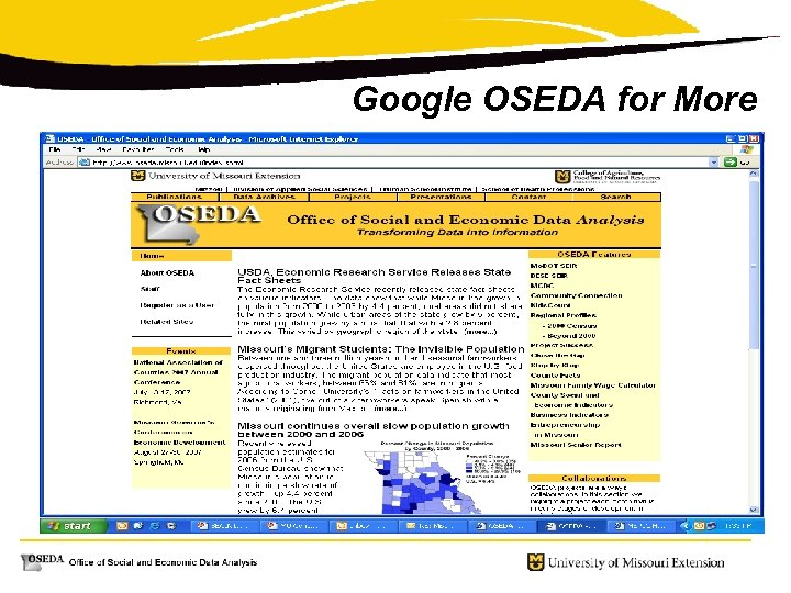 Google OSEDA for More