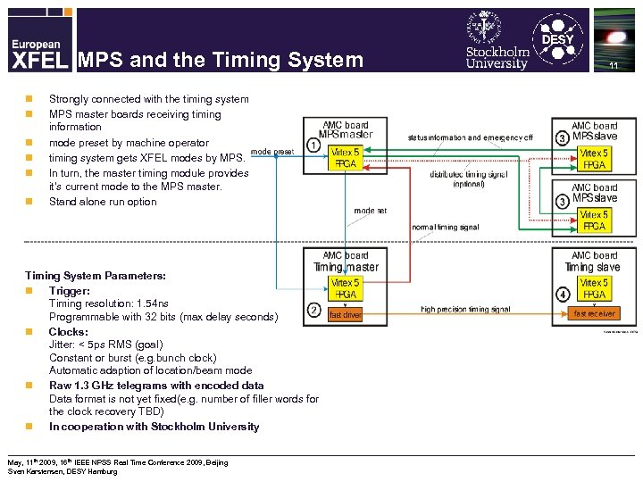 Machine Protection System for the XFEL MPS and the Timing System n n n