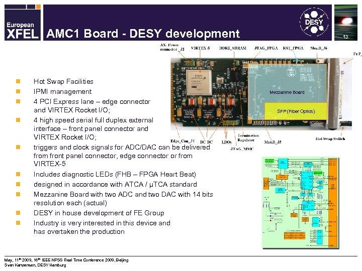 Machine Protection System for the XFEL AMC 1 Board - DESY development n n