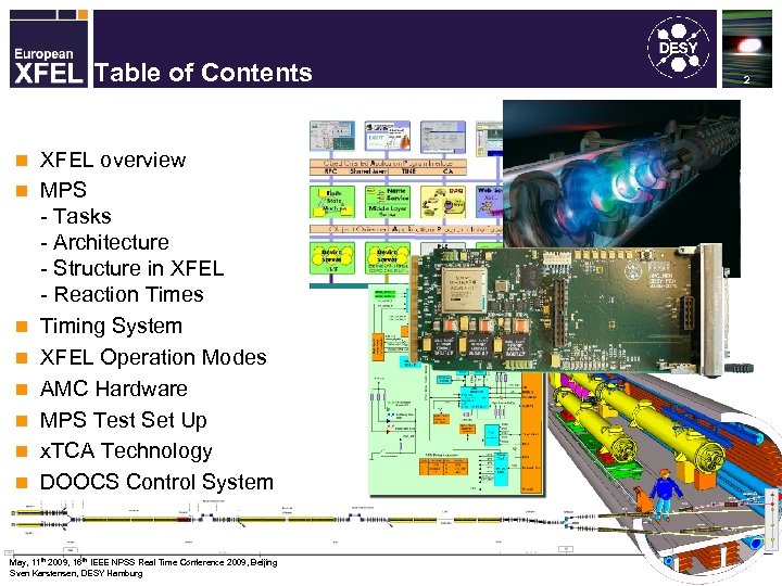 Machine Protection System for the XFEL Table of Contents n n n n XFEL