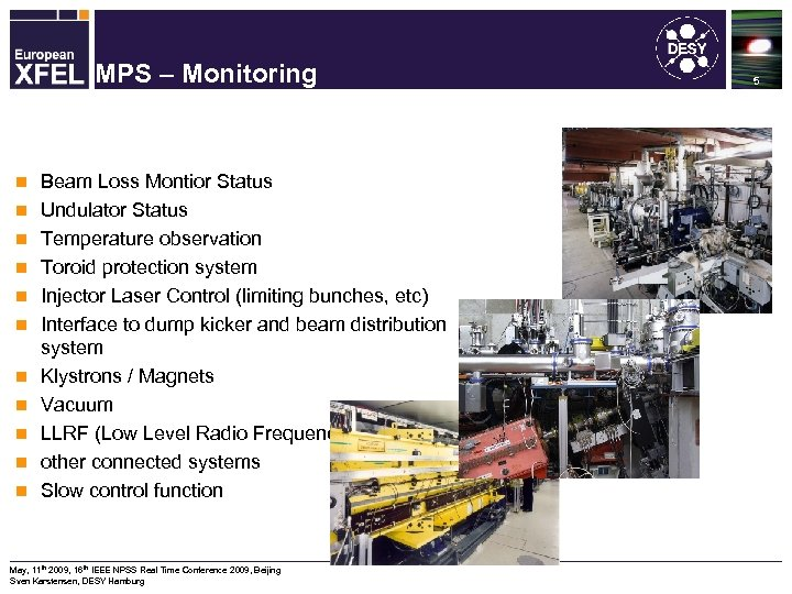 Machine Protection System for the XFEL MPS – Monitoring n n n Beam Loss
