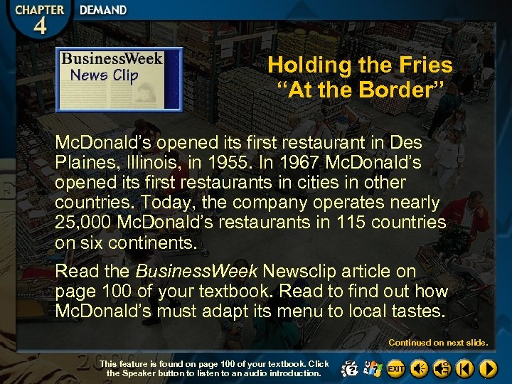 """Holding the Fries """"At the Border"""" Mc. Donald's opened its first restaurant in Des"""