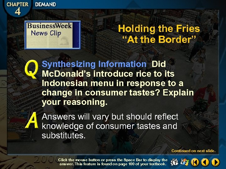"""Holding the Fries """"At the Border"""" Synthesizing Information Did Mc. Donald's introduce rice to"""