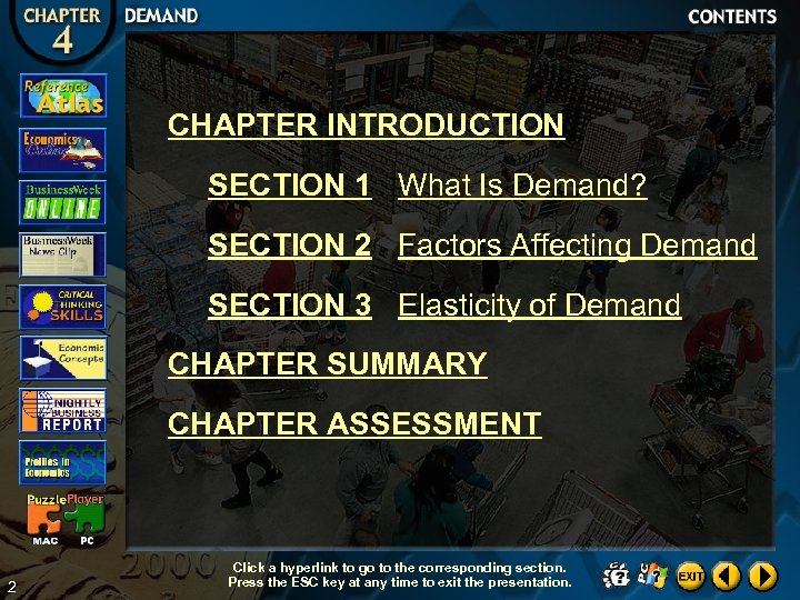 CHAPTER INTRODUCTION SECTION 1 What Is Demand? SECTION 2 Factors Affecting Demand SECTION 3
