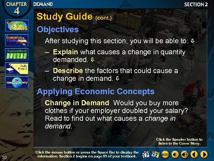 Study Guide (cont. ) Objectives After studying this section, you will be able to: