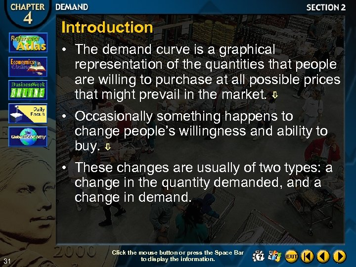 Introduction • The demand curve is a graphical representation of the quantities that people
