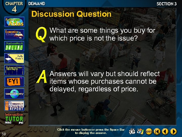 Discussion Question What are some things you buy for which price is not the